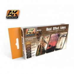 AK551 Rust Effect Colors (Acrylic Paint Set)