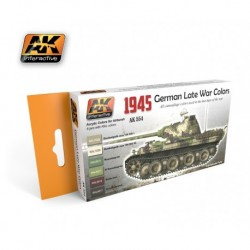 AK554 1945 German Late War Colors (Acrylic Paint Set)