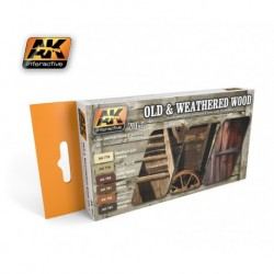 AK562 OLD & WEATHERED WOOD Vol.1 (Acrylic Paint Set)