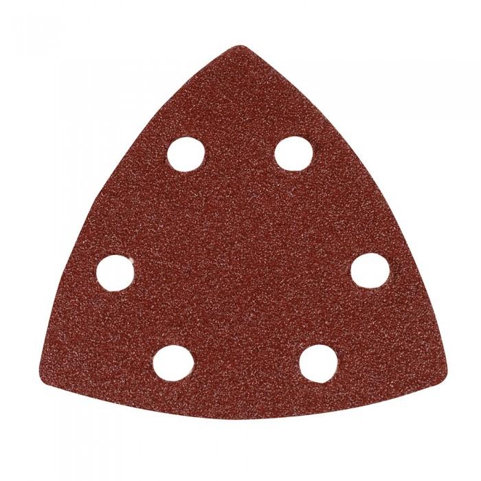 10x feuille abrasive triangulaire auto-agrippante 90mm grain 80 pour Delta 261345