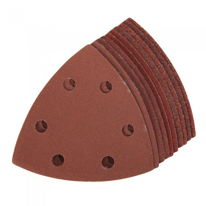 10x feuille abrasive triangulaire auto-agrippante 90mm grain assorti pour Delta 261345