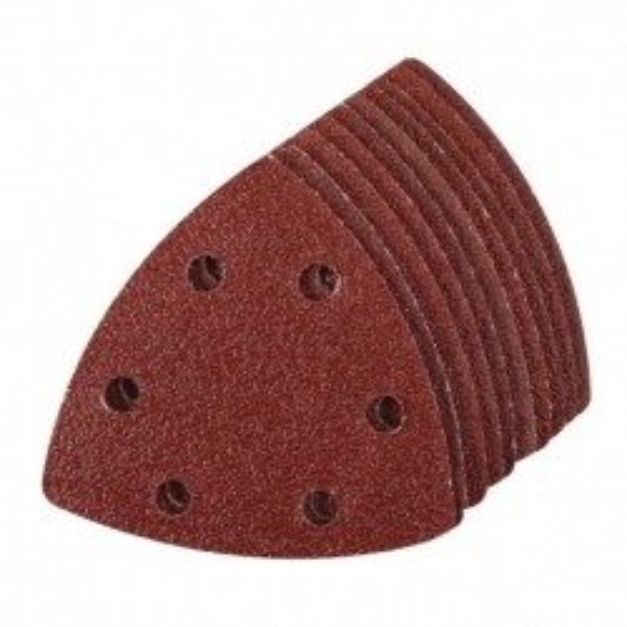 10x feuille abrasive triangulaire auto-agrippante 90mm grain 60 pour Delta 261345