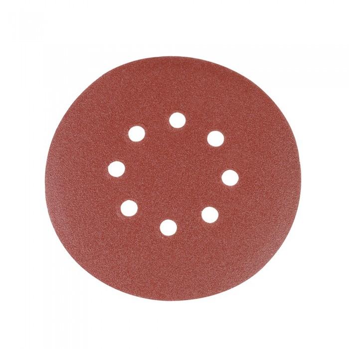 10x Disque abrasif perforé auto-agrippant 150mm grain 120 pour ponceuse double