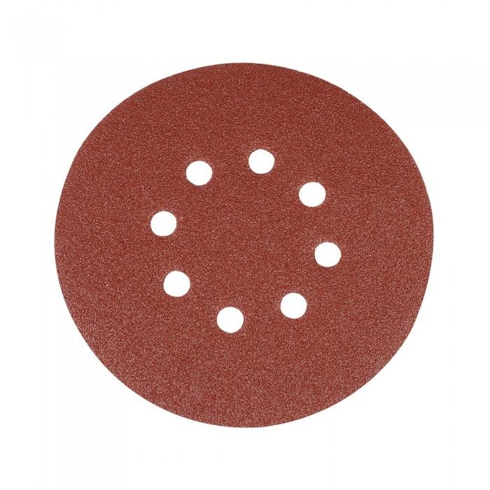 10x Disque abrasif perforé auto-agrippant 150mm grain 80 pour ponceuse double