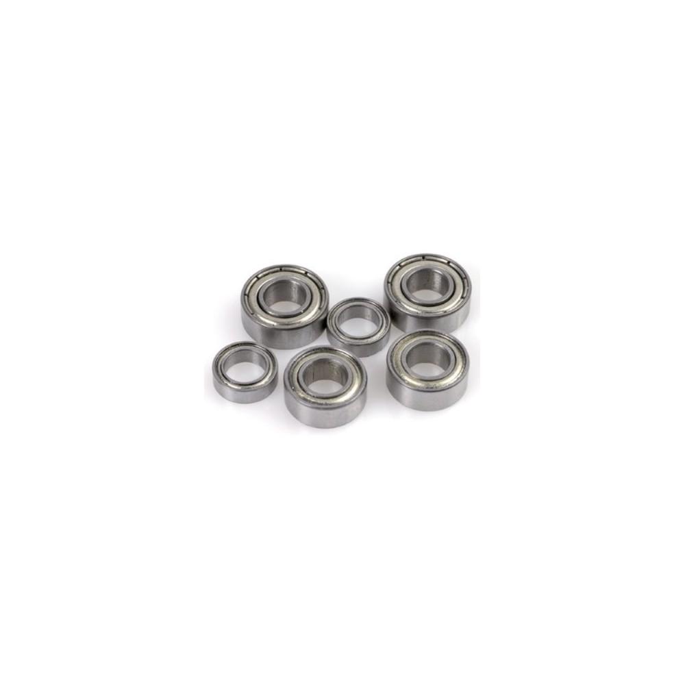 2x Roulements à billes 2x6x3 chrome ABEC 3 en acier flasques acier