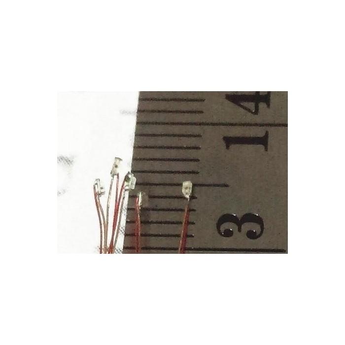 Lot de 10 LED CMS VERT avec 2 fils de 20 cm sans résistance