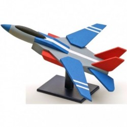 Kit enfant : avion de chasse avec colle et peinture