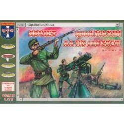 15 figurines au 1:72 SOVIET QUAD MAXIM AA MG and CREW