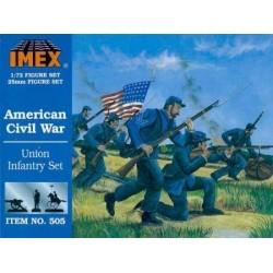 50 figures au 1:72 ( 25mm ) sur la guerre civile aux USA
