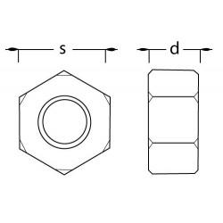 Ecrou M1,6 TR taille réduite en laiton
