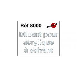 595-8000 Acryl Solvant Diluant 250ml