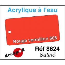 Acryl eau Rouge vermillon 605