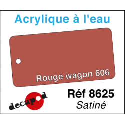 Acryl eau Rouge wagon 606 satiné