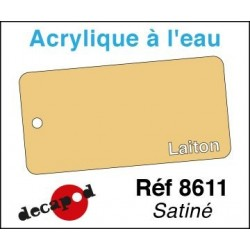 Acryl eau Couleur Laiton satiné
