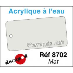 Acryl eau Mat Pierre gris clair