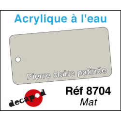 Acryl eau Mat Pierre clair patinée