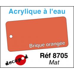 Acryl eau Mat Brique orangée
