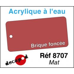 Acryl eau Mat Brique rouge foncé