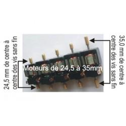 Moteur pour boitier Tenshodo, avec les vis sans fin. Diamètre: 28,7mm