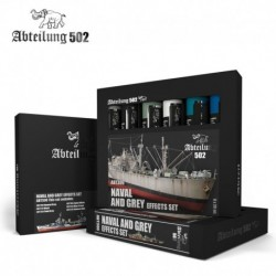 Set de peintures Abteilung 502 Naval and Grey Effects Set