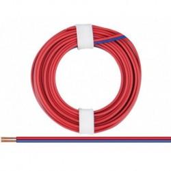 Câble 2 conducteurs 0,14mm2 Bleu-Rouge