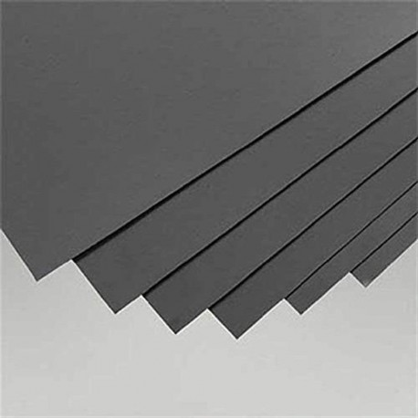 Plaques de styrène NOIRE format 200x530 mm épaisseur 1 mm