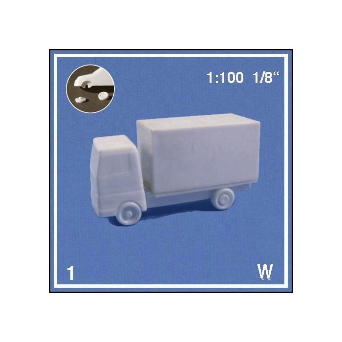 Camion blanc 1:100 + pièces détachées à coller