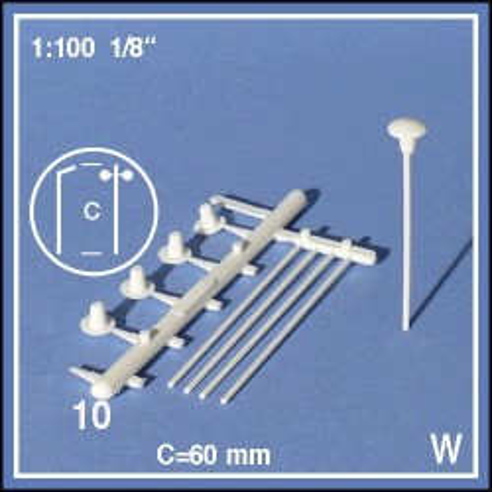 Lanternes 1:100 en pièces détachées, blanc