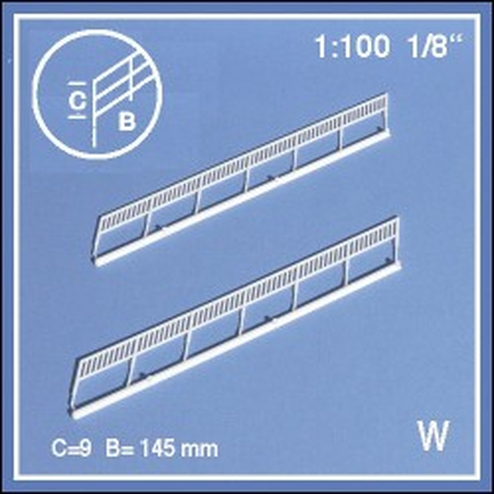 2 rampes 34° échelle 1:100
