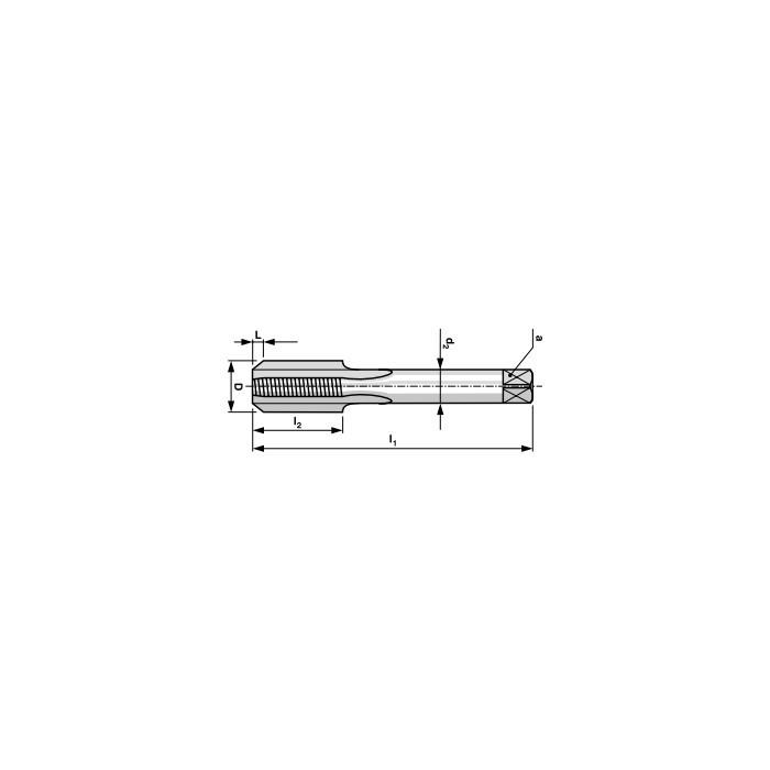 Taraud Machine DIN371 1 passe HSS M2 (boîte de 1 pièce)