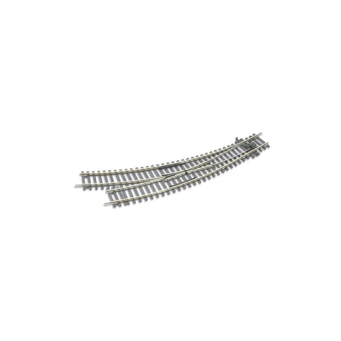 Rail courbe double rayon, aiguillage à droite, Insulfrog