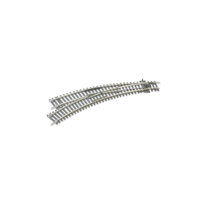 Rail courbe double rayon, aiguillage à gauche, Insulfrog