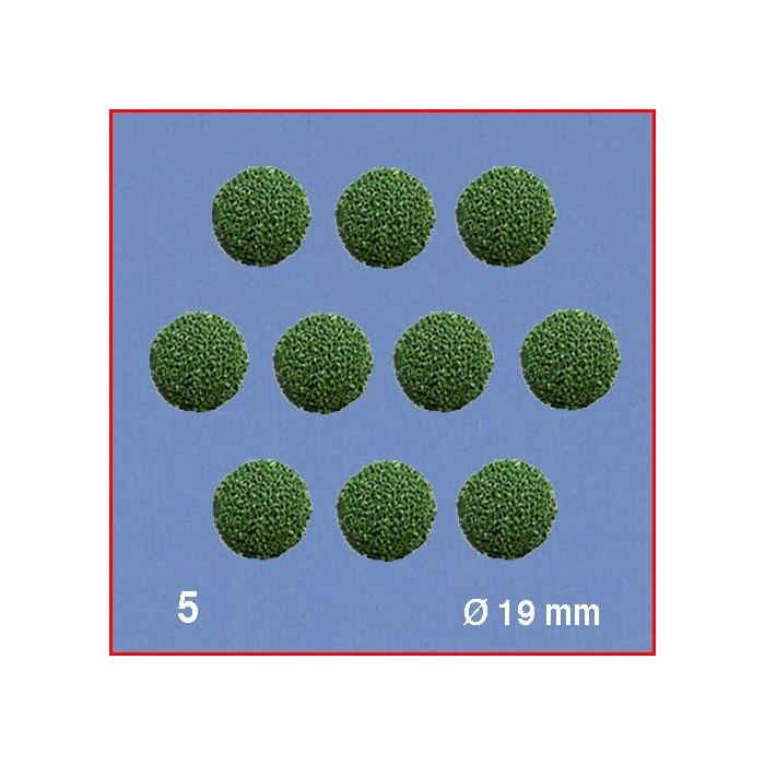 Boules pour têtes d'arbres, vert, diamètre 19 mm. 10 boules