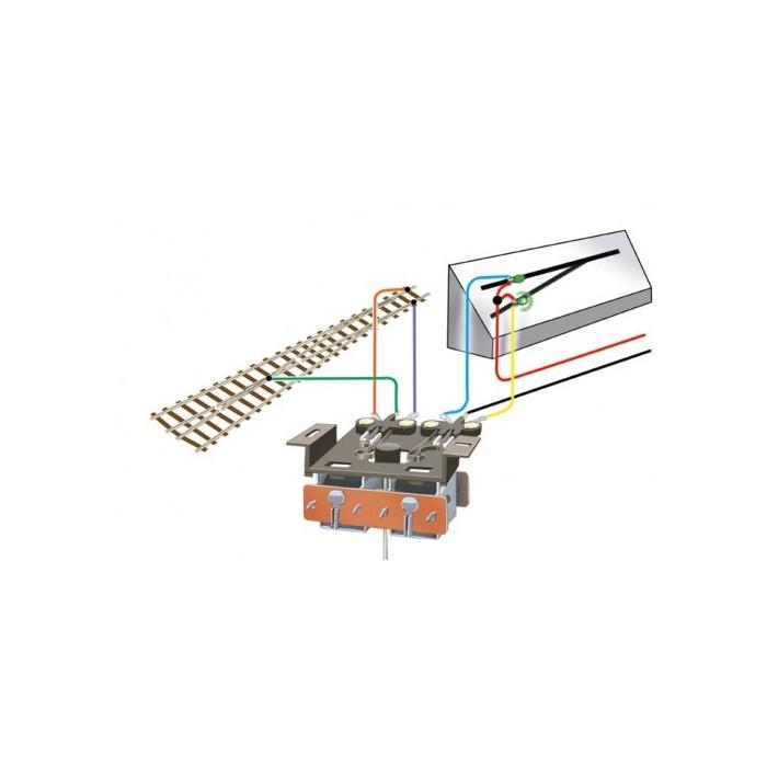 Interrupteur double, à fixer sous le moteur d'aiguillage PL-10