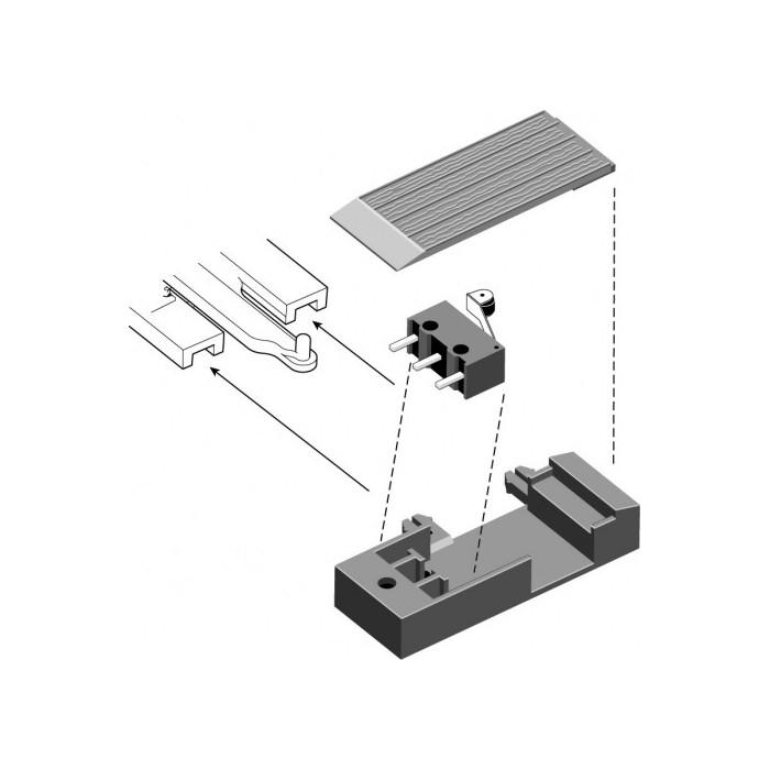 2 boitiers pour contacteurs à utiliser sur des rails SL-E790BH