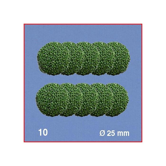 Boules pour têtes d'arbres, vert, diamètre 25 mm. 10 boules