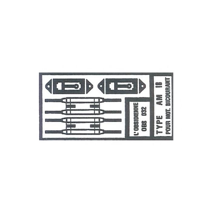 Palettes de Pantographe AM 18 pour Moteur Bicourant