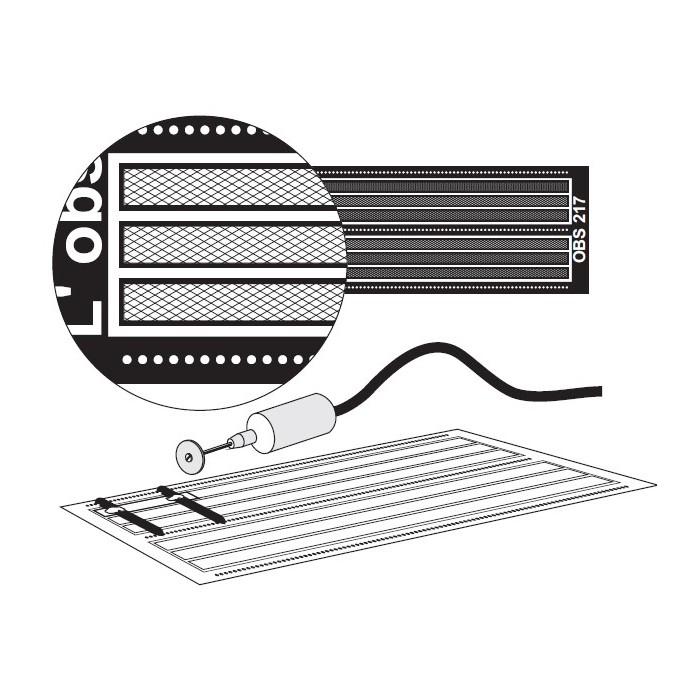 Marche-Pieds en bande (6x10 cm) avec guide pour support modulable