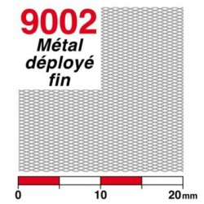 Streckmetall fein Neusilber (rautenförmig)