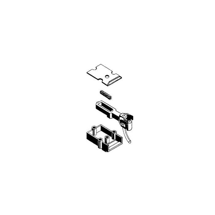 O-scale coupler en acétate (plastique). 1 paire