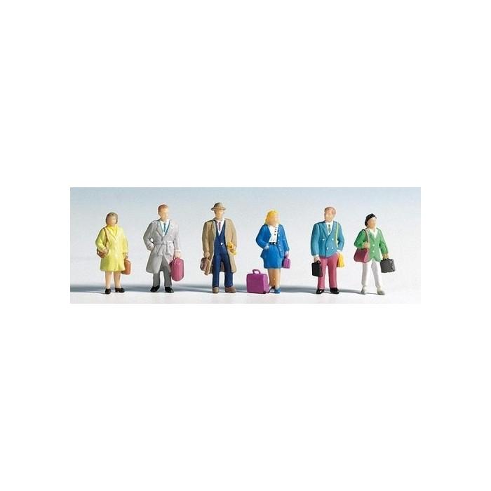 HO / Voyageurs : 6 figurines + accessoires