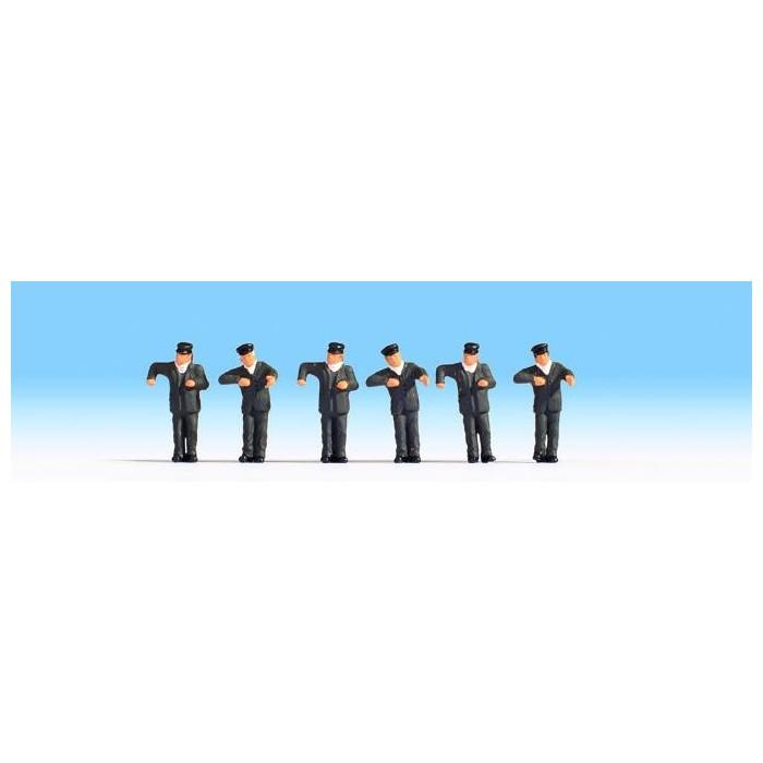 HO / Conducteurs de locomotives : 6 figurines