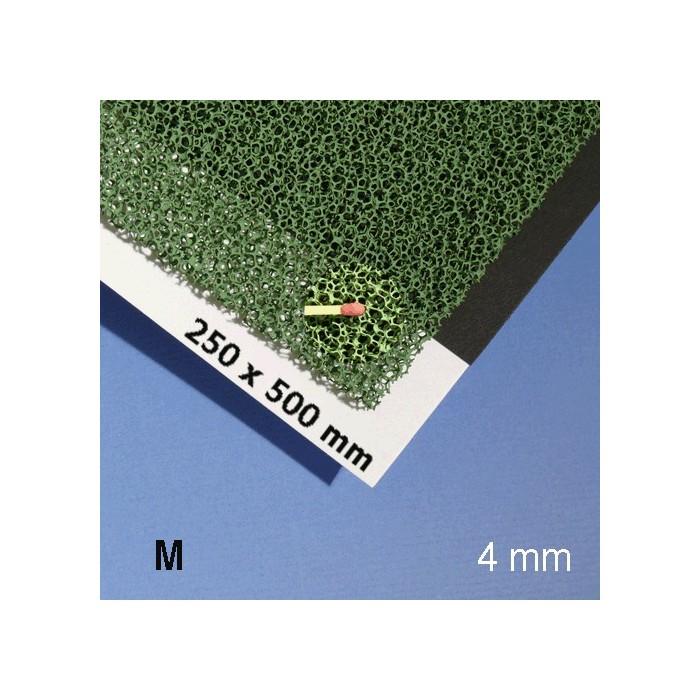 Mousse pour végétation, 500 x 250 x 3 mm, vert, texture moyenne