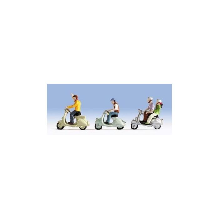H0 / Motorrollerfahrer