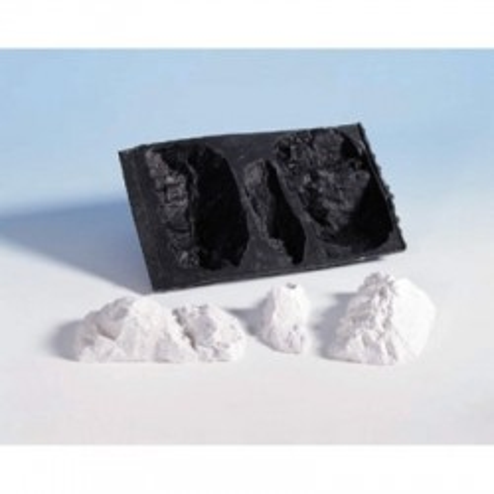 Moule pour morceaux de 3 blocs de roche. C1234, 12,7 x 17,8 cm