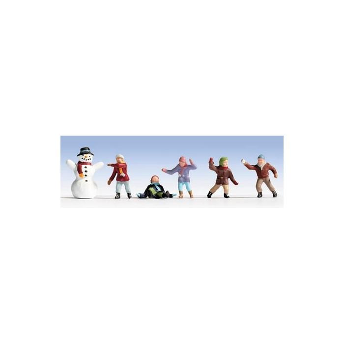 N / Enfants dans la Neige