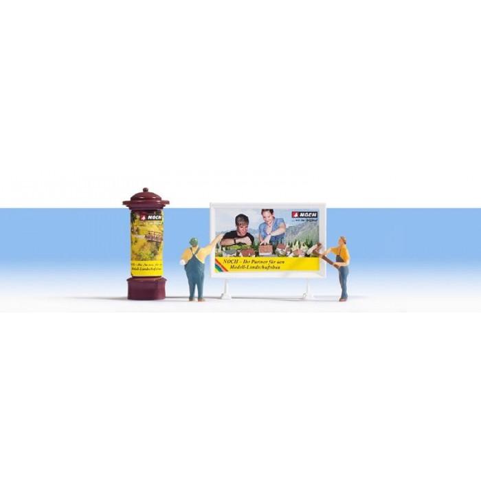 HO / Publicitaires : 2 figurines + accessoires