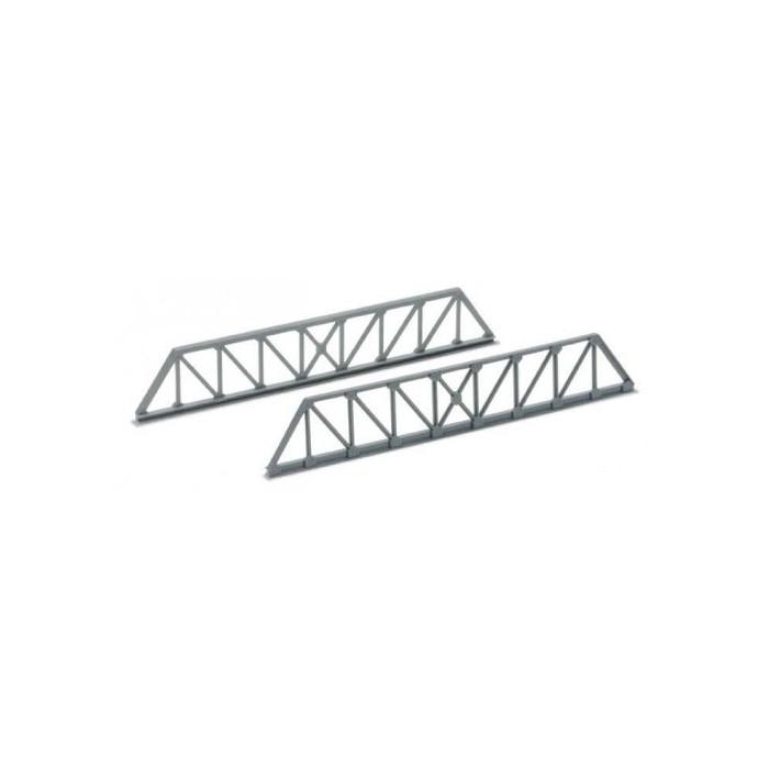 Sachet de 4 éléments de pont ferroviaire en poutres métalliques