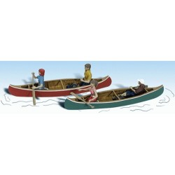 2 canoes 4 personnages bagages