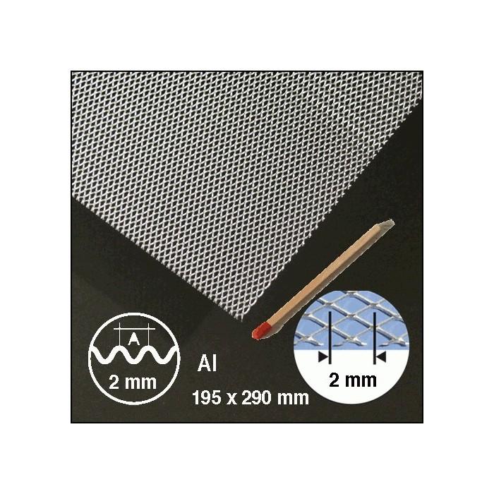 Métal déployé, ondulé aluminium 2mm